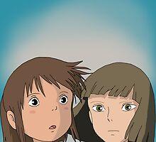 Haku and Chihiro by Gabriel Barahona