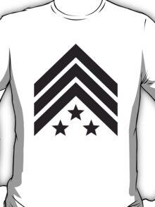 3 Sterne General Sergant army T-Shirt