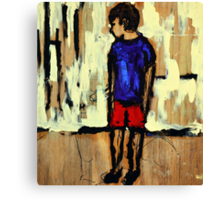 Unsure Child Canvas Print