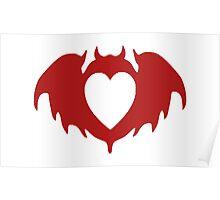 Clandestine Bat Heart - Red Poster