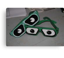 Glasses with eyes Canvas Print