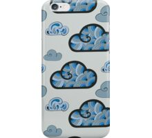 Cloudy background iPhone Case/Skin