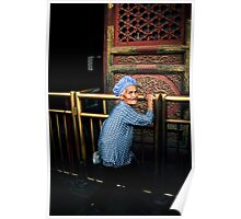old chinese woman Poster