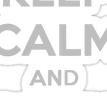 Keep calm and blink away! Sticker