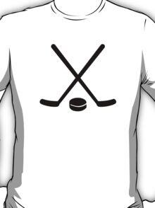 Hockey sticks puck T-Shirt