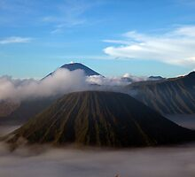 Mt. Bromo Rises From the Mist by KeithThomson