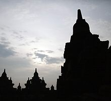 Borobudur.  East Java.  Indonesia. by Keith Thomson