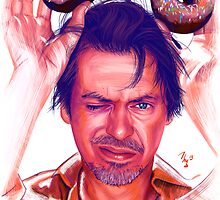 Steve Buscemi and donuts digital painting by Thubakabra