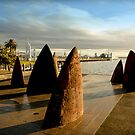Stone sails Geelong Foreshore - Victoria by bekyimage