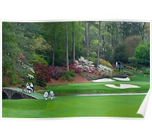 Amen Corner Golf Golfers on Bridge Augusta  Poster