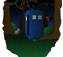 Toothless and The Tardis by xxSliverCrownxx