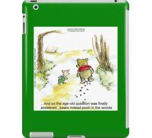 Where Do Bears Really Go?  iPad Case/Skin