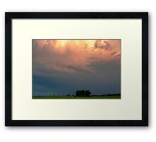 Storm at Sunset over a Horse Farm Framed Print