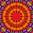 Psychedelic Happy Hippie Mandala by webgrrl