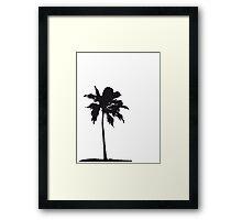 Palm tree on the beach sun sea Framed Print