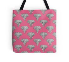 Elephant Pattern on Pink Tote Bag