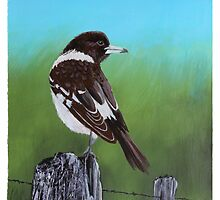 Butcher Bird Painting by Robert  Corcoran