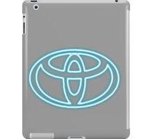 neon Toyota Badge iPad Case/Skin