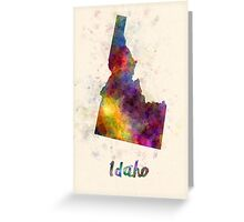 Idaho US state in watercolor Greeting Card