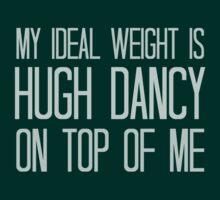 My ideal weight is Hugh Dancy on top of me by FandomizedRose