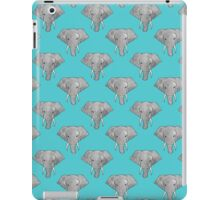 Elephant Pattern on Blue iPad Case/Skin