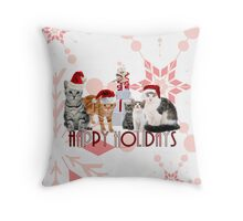 Holiday Cats - Card Throw Pillow