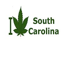 I Love South Carolina by Ganjastan