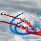 And Break !! - Patrouille De France - HDR - Duxford 2014 by Colin J Williams Photography