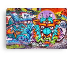 Graffiti Wall Art Tengu. Canvas Print