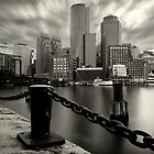 Boston Harbor B&W by jswolfphoto