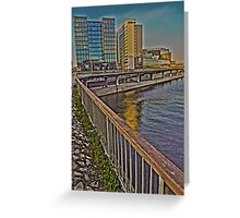 A view towards the central rail station, Stockholm. Greeting Card