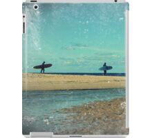 surfers at lagoon 1 iPad Case/Skin