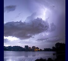 Lake Thunder Cell Lightning Burst by Bo Insogna