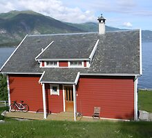 Red House by the Fjord by Kathleen Brant