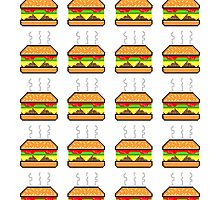 Pixel Cheeseburger Pattern by maximumcapacity