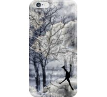Winter Figure Skating Card iPhone Case/Skin