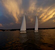 Tandem Sailing Before the Storm by cbeers5009