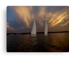 Tandem Sailing Before the Storm Canvas Print