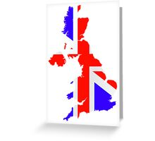 United Kingdom Flag and Map Greeting Card