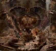 steampunk water world by yairi42