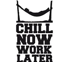 Chill Now Worklater hammock beach sea by Style-O-Mat