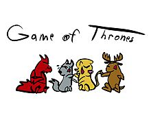 Game of Thrones Mascots by mscartoonguy
