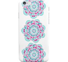 Hot Pink & Teal Mandala Flower iPhone Case/Skin