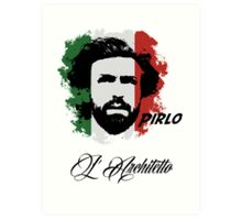 ITALIA ANDREA PIRLO WC 14 FOOTBALL T-SHIRT Art Print
