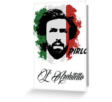 ITALIA ANDREA PIRLO WC 14 FOOTBALL T-SHIRT Greeting Card