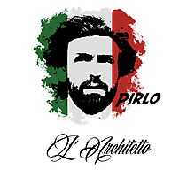 ITALIA ANDREA PIRLO WC 14 FOOTBALL T-SHIRT Photographic Print