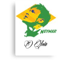 BRAZIL NEYMAR JR. WC 14 FOOTBALL T-SHIRT Canvas Print