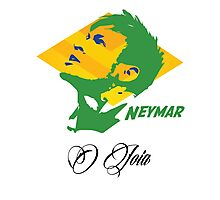 BRAZIL NEYMAR JR. WC 14 FOOTBALL T-SHIRT Photographic Print