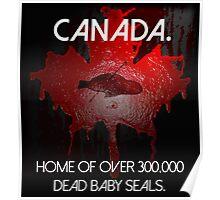 Anti-Fur Canadian Seal Hunters Poster
