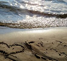 Sand beach heart by francelal